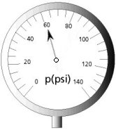 a gauge to measure pressure in psi units